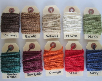 "5 yards Colored Jute Twine ""Your Color Choice"""