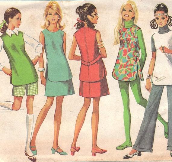 1960s Tunic, Skirt & Pants Pattern Simplicity 8151 Size 14 Uncut
