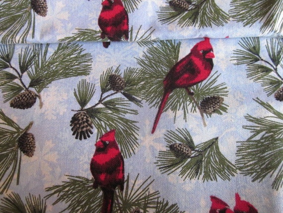 Christmas Fabric, Cardinals, fabric, only 1 1/8 yards