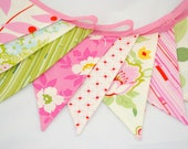 Bright and Cheerful Bunting - GARDEN PARTY - The perfect decoration for Weddings, Parties and Showers - Reserved for Lauren