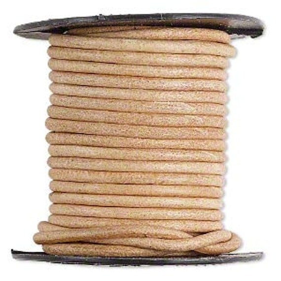Leather Cord, Natural, 2mm - 5 Yards