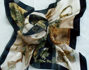 SALE Scarf in Gold,Green, and Black
