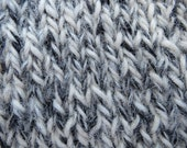 100% Alpaca Yarn Worsted Weight Tri-colored, Silver Grey, Creamy White & Black, 150 yds. 1204