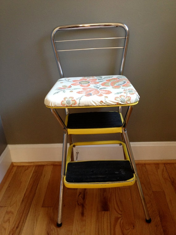 Upcycled Vintage Yellow Cosco Stool