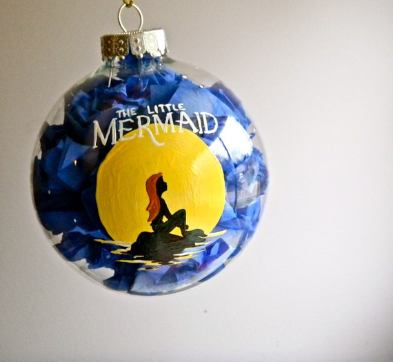 The little mermaid inspired christmas ornament by for Ariel christmas decoration