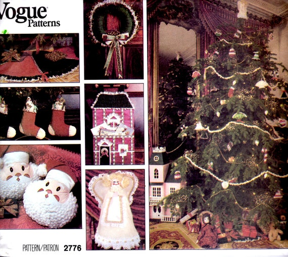 1980s vogue sewing pattern no 2776 for christmas decorations for 1980s decoration