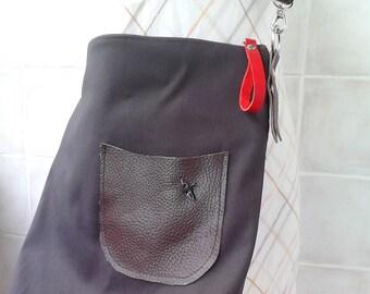 SALE - Shoulder Bag :  with nice metal bird & adjustable leather strap