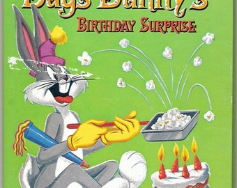 Bugs Bunny's Birthday Surprise Vintage Whitman Tell A Tale Book Illustrated by Warner Bros