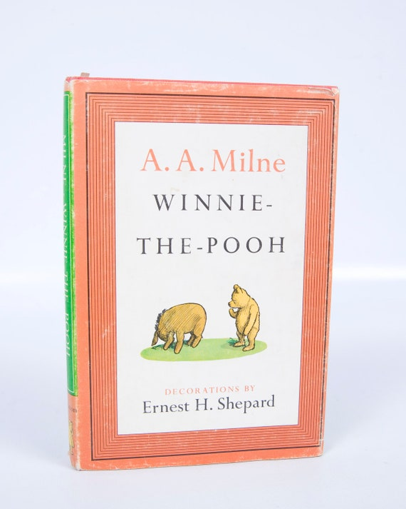 Vintage 1961 Winnie the Pooh Hardcover Book  A A Milne Illustrated by Ernest Shepard