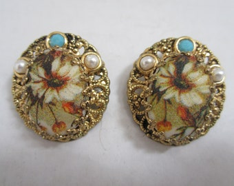 Victorian  Earrings Made in West Germany c.1940