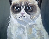 Tard - The Grumpy Cat - Original Art