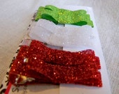 Glitter Hair Clippies Set of 6