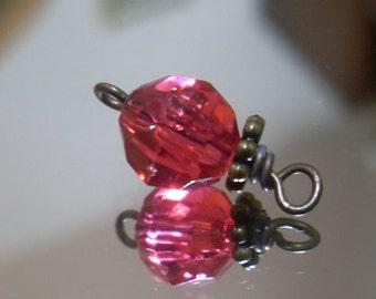 Vintage Raspberry Dangle