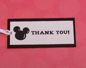 25 - Mickey Mouse, Thank you tags, Gift Labels, Childrens Birthday Party Tags