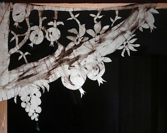 Chuppah: Awning for Tallit Chuppah/Window Decoration with Grapes and Pomegranates