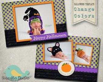 Halloween Card PHOTOSHOP TEMPLATE - Vintage Halloween Boutique 8