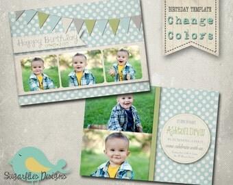 Birthday Invitation Templates - Birthday Boy Antique