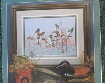 Counted Cross Stitch Pattern Booklet Mallard Duck Patterns used