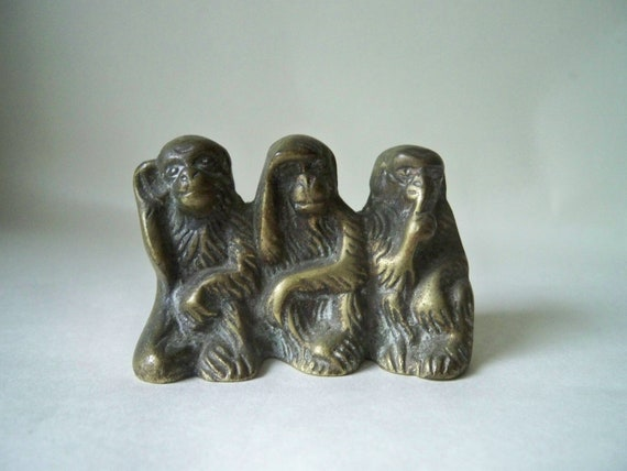 Vintage Brass Monkeys Hear no evil