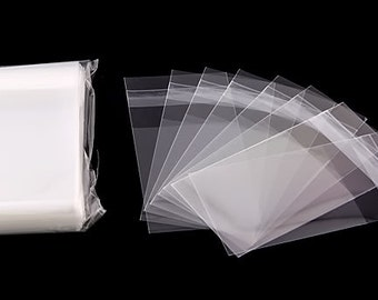 1 Pack (100 Pieces) OPP Self Adhesive Clear Plastic Bags