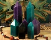 Crystal Shaped Beeswax Candles Set of 3 Your Choice Of Color