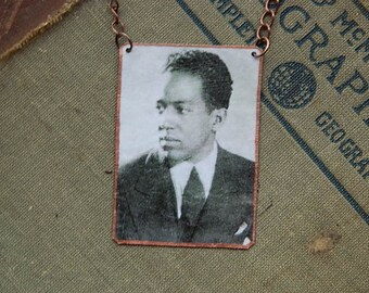 Langston Hughes necklace mixed media jewelry poetry poet