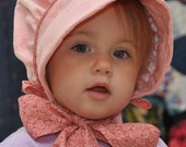 PINK and CALICO BONNET