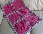 Crochet Blanket with Bobble Heart Detail INSTANT DOWNLOAD PDF from Thomasina Cummings Designs