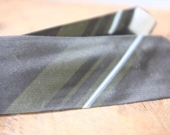 Vintage NOS Skinny Black Tie