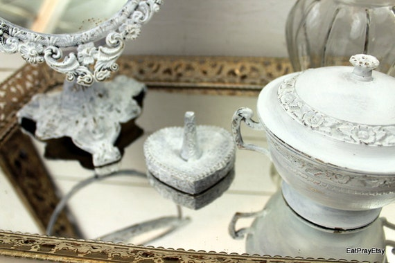 Reserved for Didigirl Upcycled Shabby Chic Bathroom Vanity Set French Country Bathroom