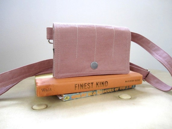 Pink Twill Waist Beach Pack Fanny Pack Utility Device Holster everyday purse travel