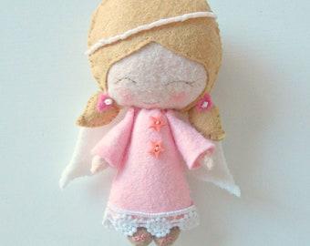 Angel - Felt Doll - Guardian Angel - Angel Doll