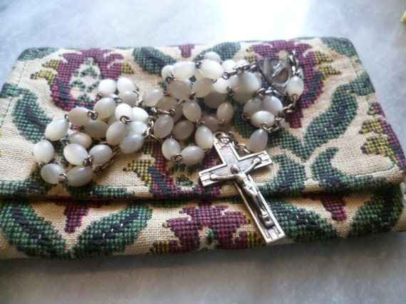 Reserved for Angela Vintage Rosary, Bakelite 1920's- 1930's  French Vintage.