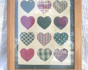 VIntage Heart Sampler - Quilted