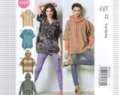 McCalls 6603   Misses Pullover and Oversized Tops    Sizes: Lrg, Xlg, Xxl