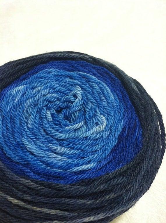 Sugared Sheep Cake Worsted Weight Yarn - Blue Evolution