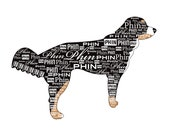 Your Dog Silhouette with Name - Custom 8 x 10 Canvas