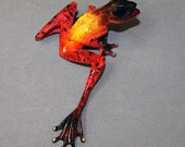 """Frog Bronze """"SAMSON"""" Statue Figurine Amphibian Art (color of live frogs) / Limited Edition / Signed & Numbered"""