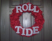 Roll Tide Wreath (Crimson)