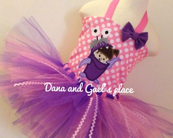 Adorable Monster inc Boo tutu and top