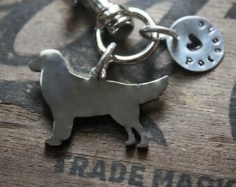 Golden Retriever Custom Keychain, Personalized Dog Jewelry, Memorial, Gift, Dog Lover