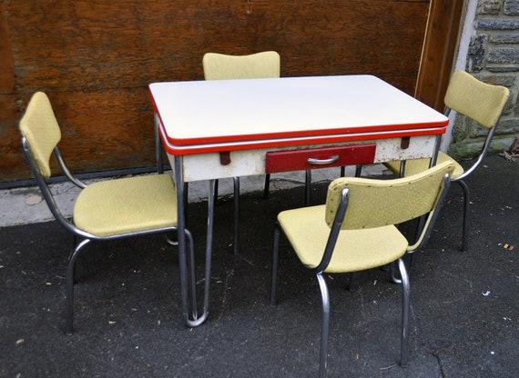 Half off 50 lloyd chrome plated and enamel retro diner - Retro chrome kitchen table ...