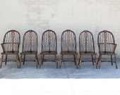 RESERVED MADELEINE Set of 6 Antique European Windsor Style Dining Chairs
