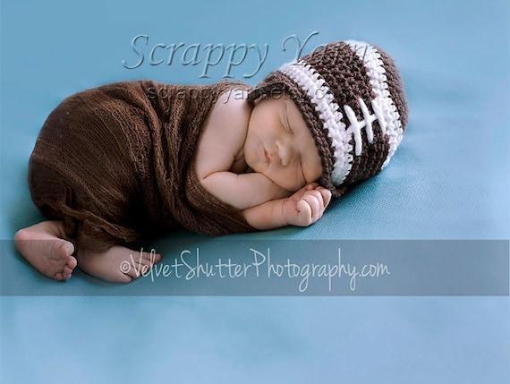 Newborn Crochet Football Hat