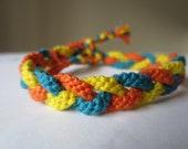 Braided Bracelet - Triple twist with a splash of colour