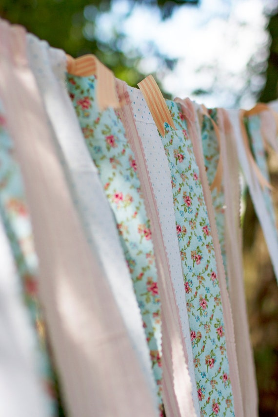 Retro Floral Fabric Backdrop Streamers