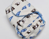 Small Bumstoppers Prefitted Panda and Seals Cotton velour
