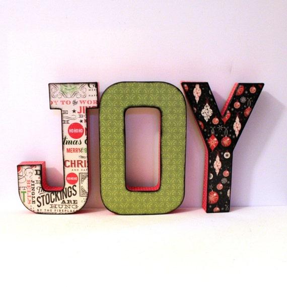 items similar to joy christmas decor letters custom names