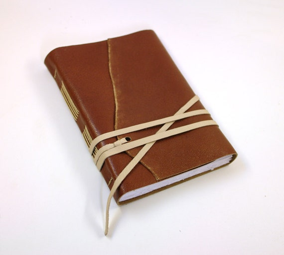 Brown Book of Secrets - Leather Journal, Antiqued Vintage Style