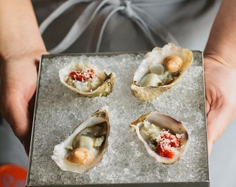 Oysters Food Photo Fine Art Print (8x10)